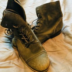 All Saints Shoes - All saints leather military boots